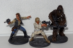 Luke, Han, and Chewie